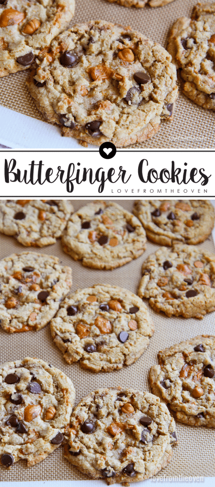 Butterfinger Butterscotch Cookies