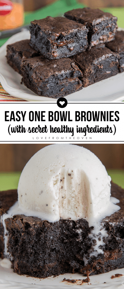 Easy One Bowl Brownies From Scratch Recipe