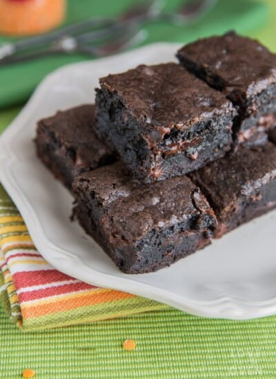 Easy one bowl brownies from scratch made with cocoa.