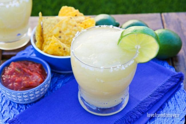 Ice Cream Maker Margaritas. Easy Frozen Margaritas At Home.