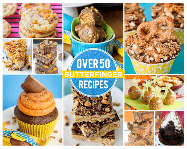Over 50 amazing recipes using Butterfingers