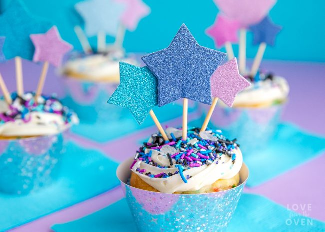 Girly Galaxy Cupcakes