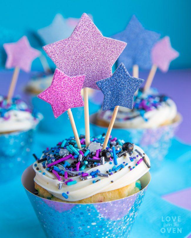 Pretty galaxy cupcakes