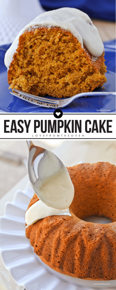 Delicious and easy pumpkin bundt cake recipe at Love From The Oven