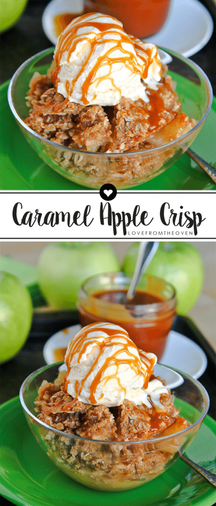 Easy Apple Crisp Recipe Topped With Caramel