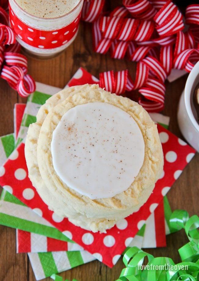 Easy Eggnog Cookies