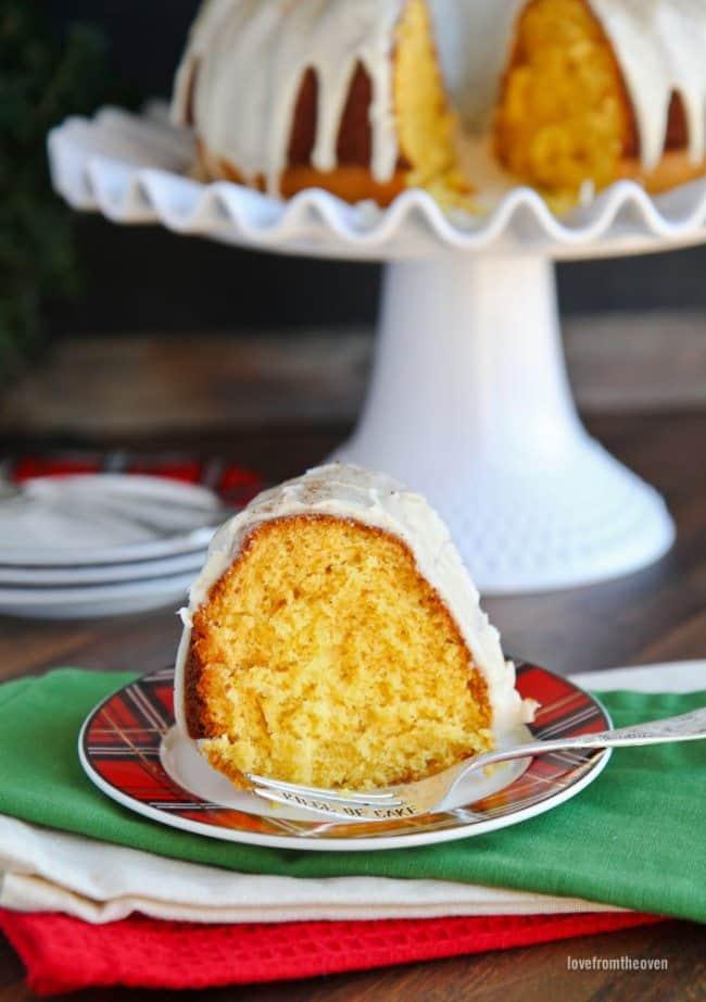 Eggnog Cake Recipe