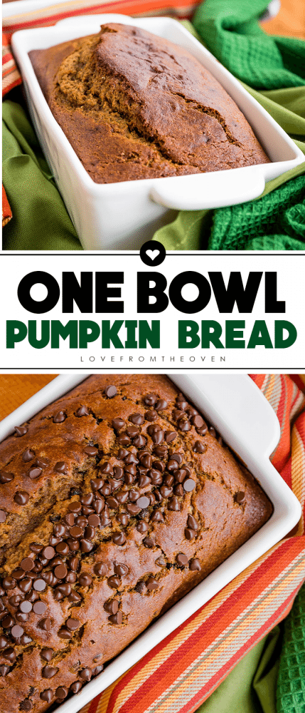 Easy One Bowl Pumpkin Bread Recipe