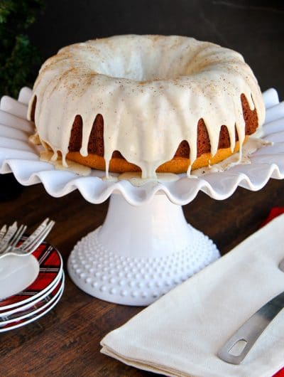 Easy Eggnog Cake