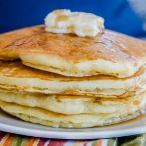 Perfect fluffy pancakes