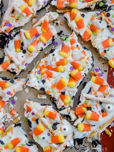 Cookie Candy Corn Bark