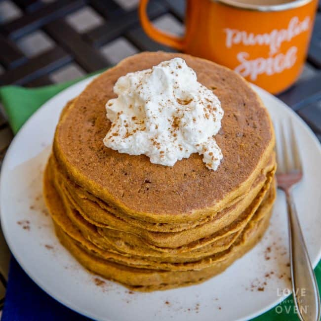 Recipe for pumpkin pancakes