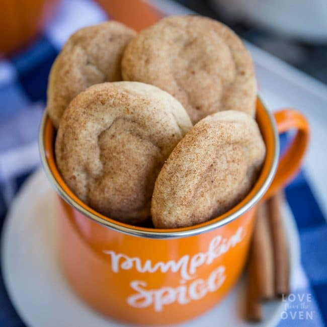 Pumpkin Snickerdoodle Cookie Recipe