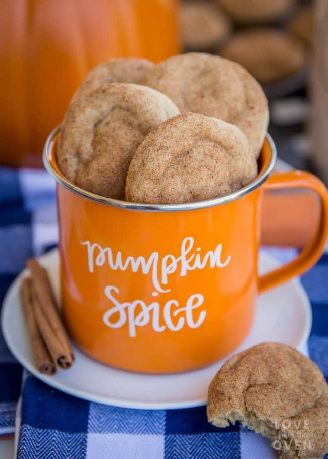 Pumpkin Snickerdoodles Cookies