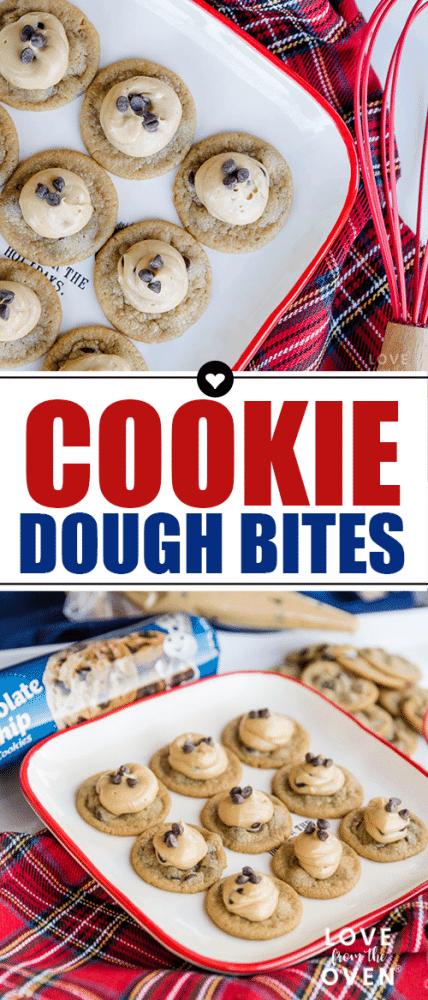 Cookie Dough Bites Cookies #cookiedough #cookies