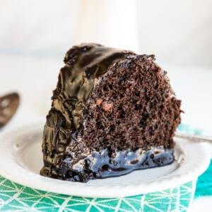 A slice of chocolate overload cake.