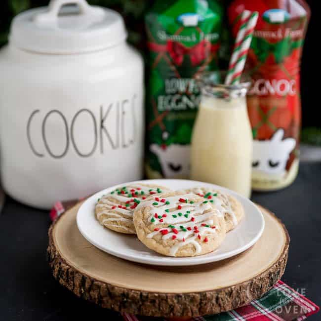 Eggnog Snickerdoodles Cookies