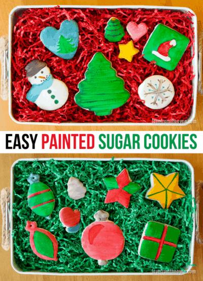 Several images of sugar cookies