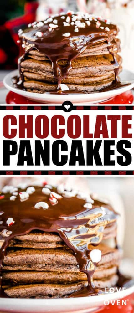 Easy Chocolate Pancakes #pancakes #chocolate #chocolatepancakes #peppermint