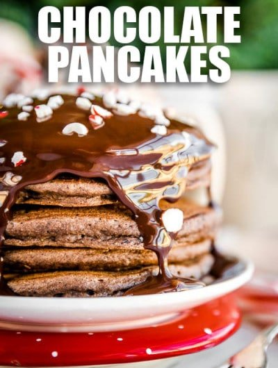 Peppermint Chocolate Pancakes
