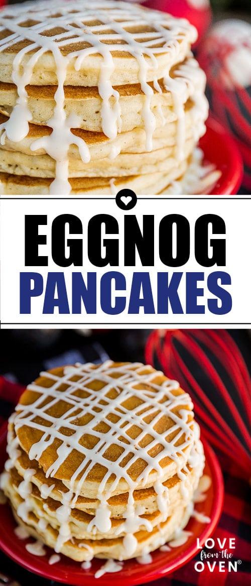 Easy Eggnog Pancakes