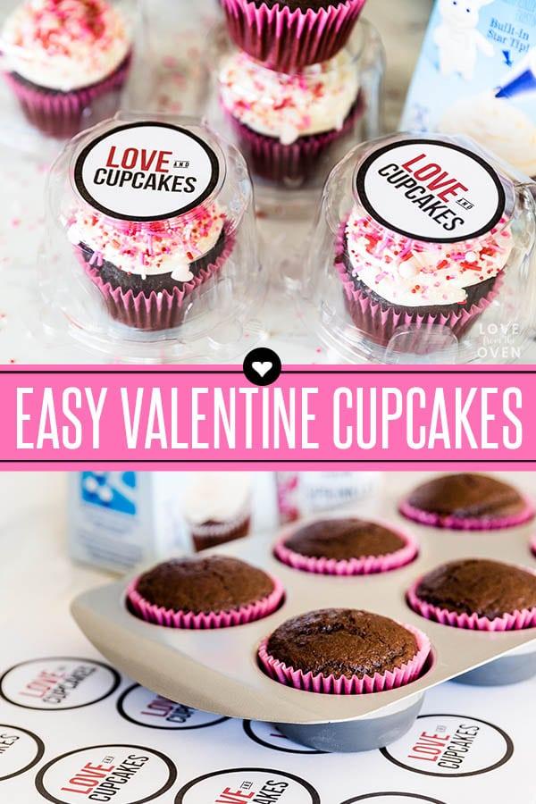 Easy Valentine Cupcakes