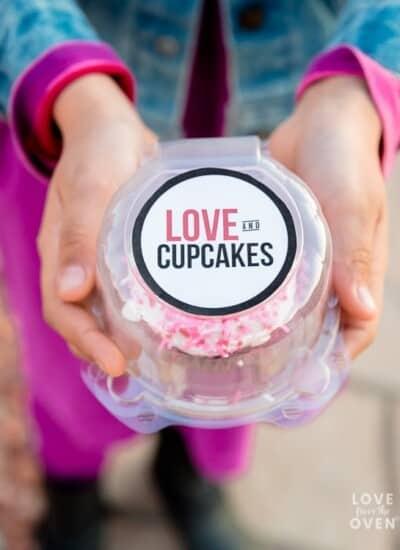 Valentine Cupcakes Printable