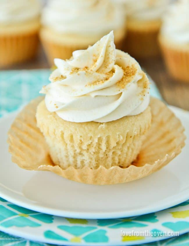 Doctored Yellow Cake Mix Cupcakes
