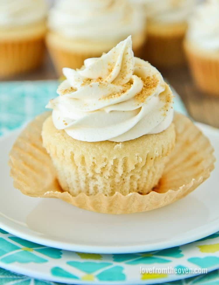 Doctored Vanilla Cake Mix Cupcakes