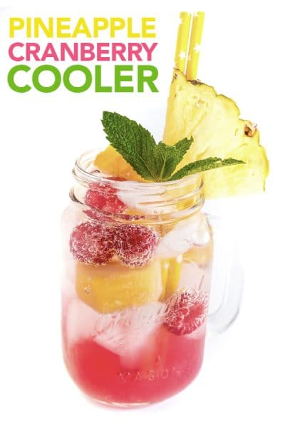 Pineapple Cranberry Juice Cooler Recipe