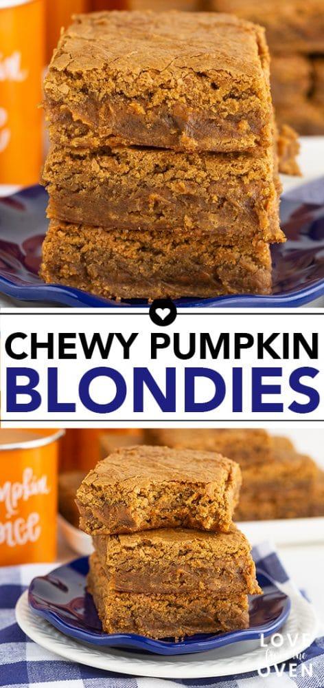 Chewy Pumpkin Blondies