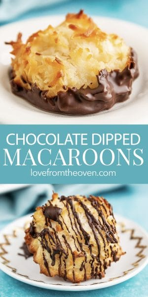 Chocolate Dipped Macaroons Cookie Recipe