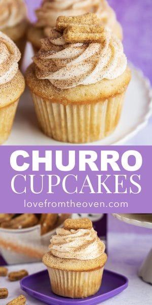 Easy Churro Cupcakes