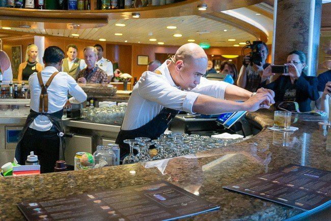 Bartender making a drink on a Caribbean cruise with Princess Cruises