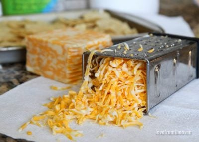 Cheese in a cheese grater
