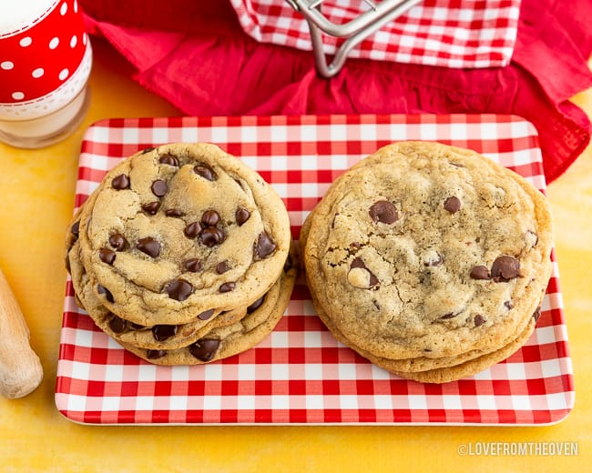 Several Chocolate chip cookies