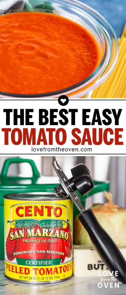 Several images of tomato sauce