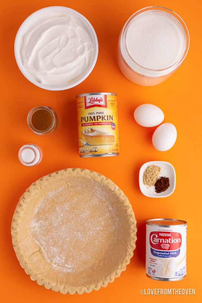 the ingredients for libbys pumpkin pie