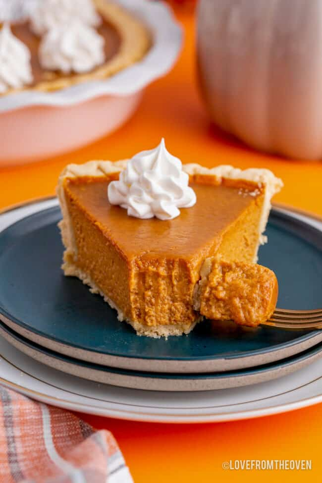 a slice of libbys pumpkin pie