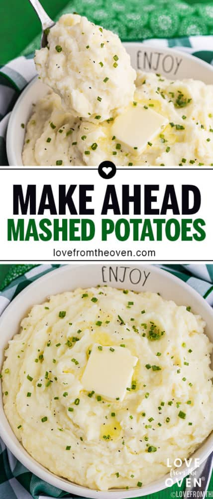 Several images of mashed potatoes