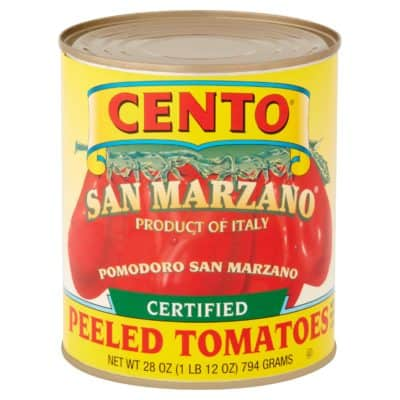 Can of San Marzano tomatoes
