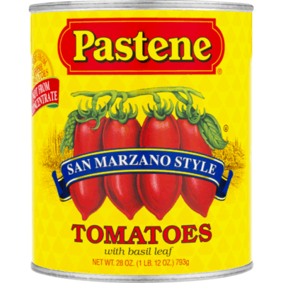 Image of a can of San Marzano Style tomatoes