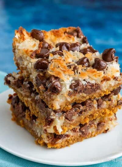 Three stacked seven layer bars