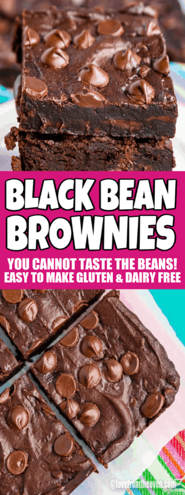 Several images of black bean brownies
