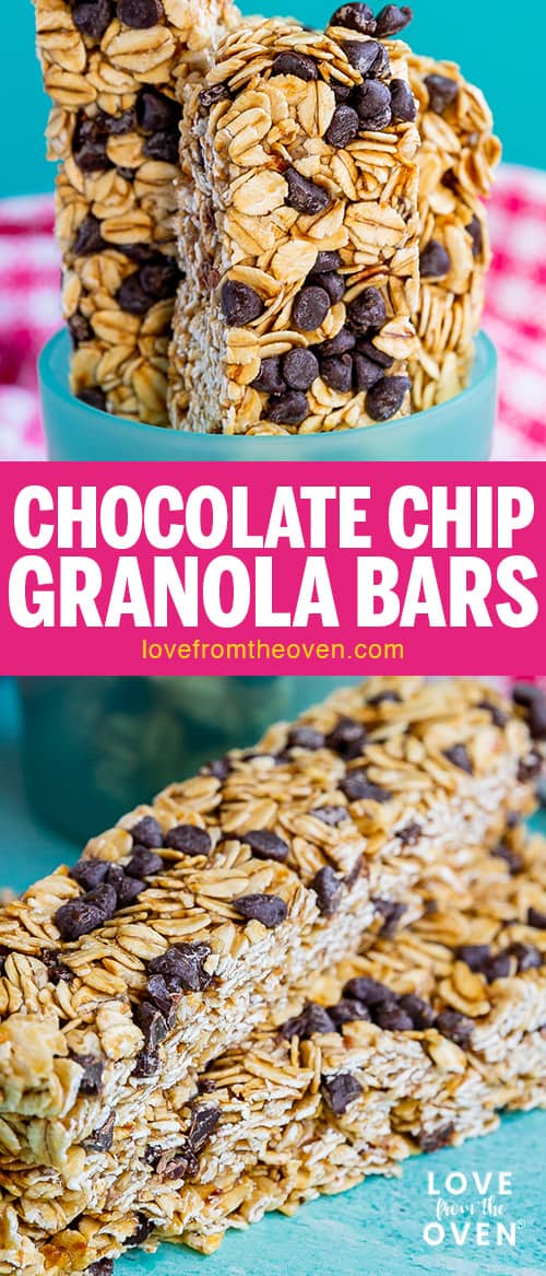 Several images of granola bars