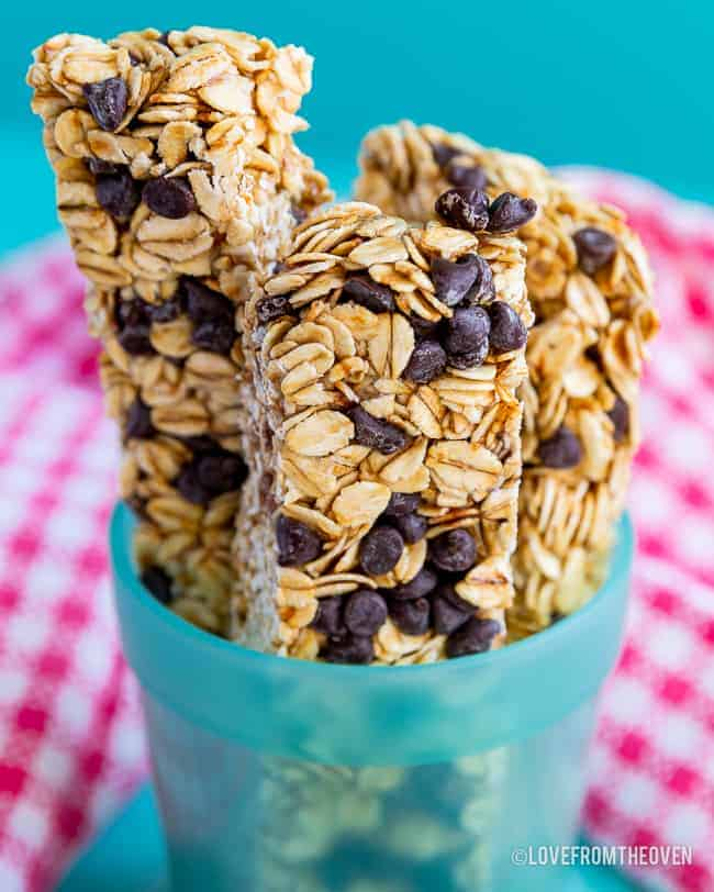 A cup full of Granola Bars