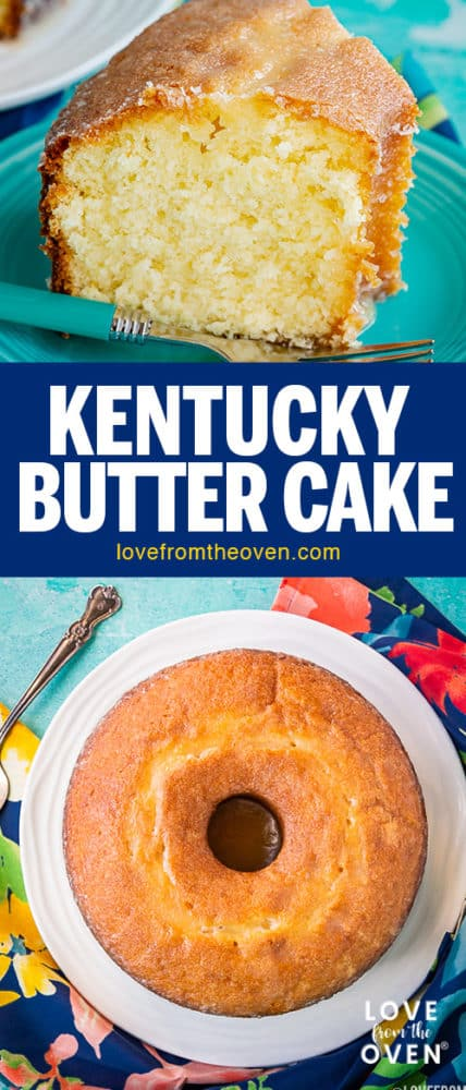 Several photos of Kentucky butter cake
