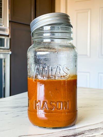Jar of enchilada sauce
