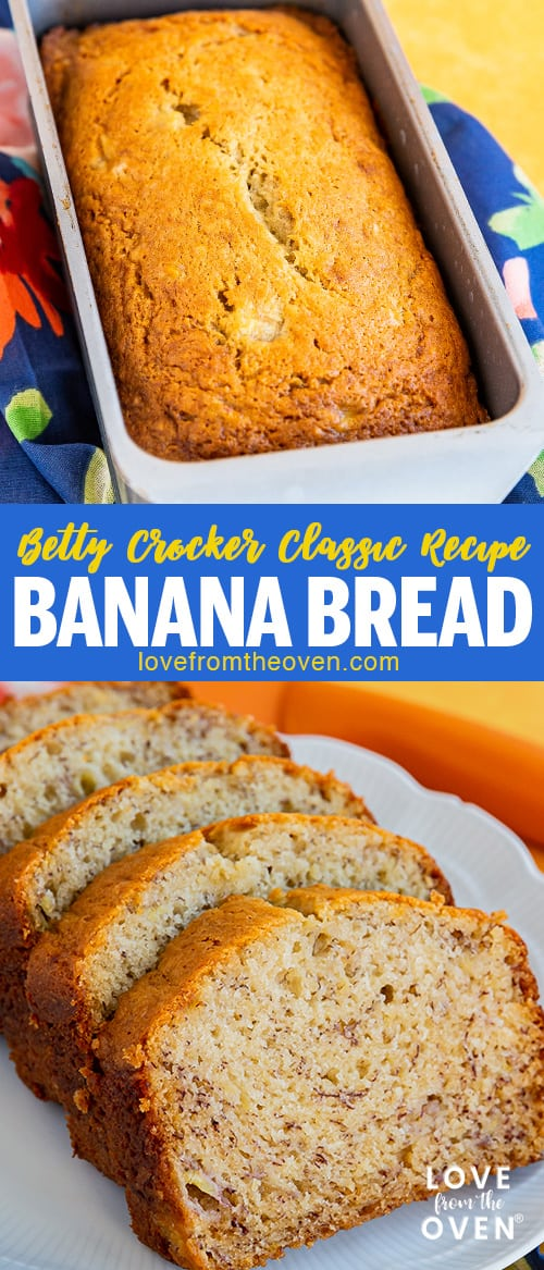 Several images of banana bread