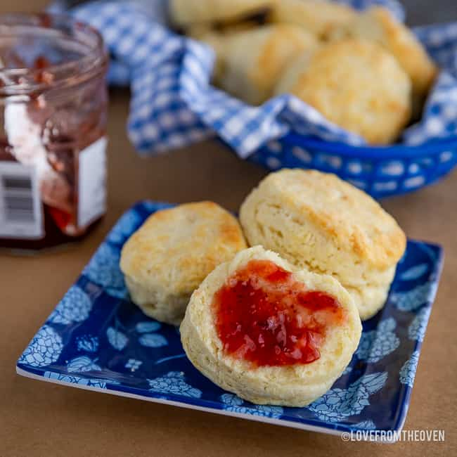Several buttermilk biscuits